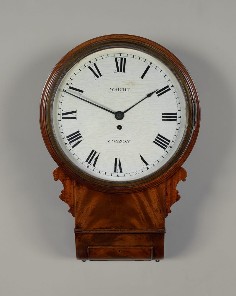 Early 19th C Dial clock by Wright of London.