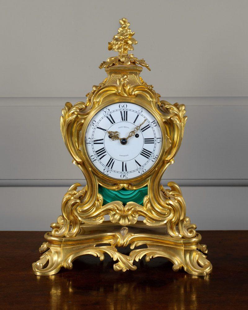 English Ormolu Mantel clock by Mitchell of London Ca 1835