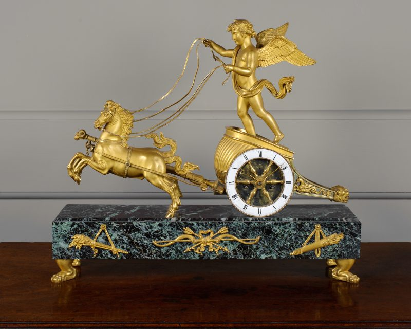 French Empire Chariot clock 1810