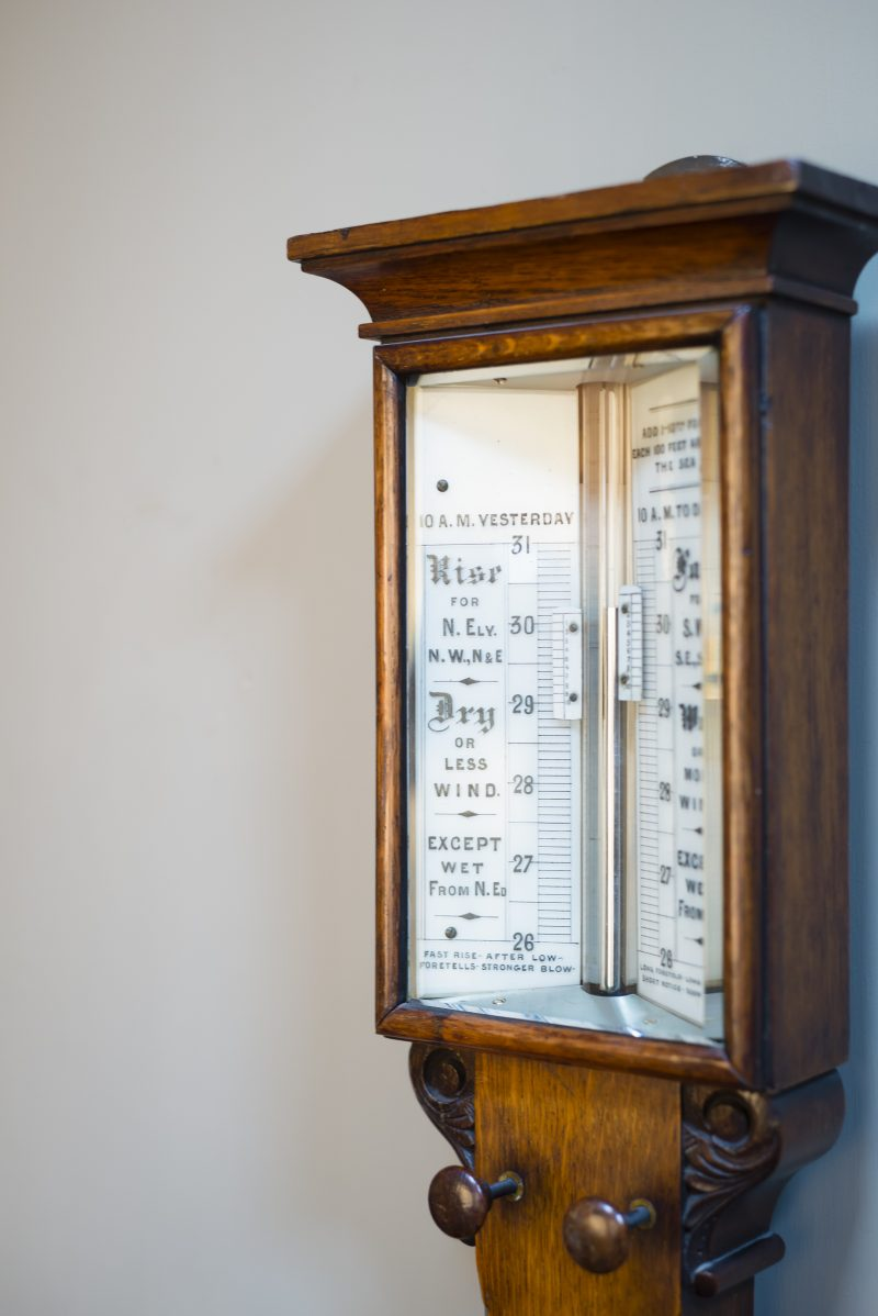 A Carved Oak Antique Stick Barometer C1885