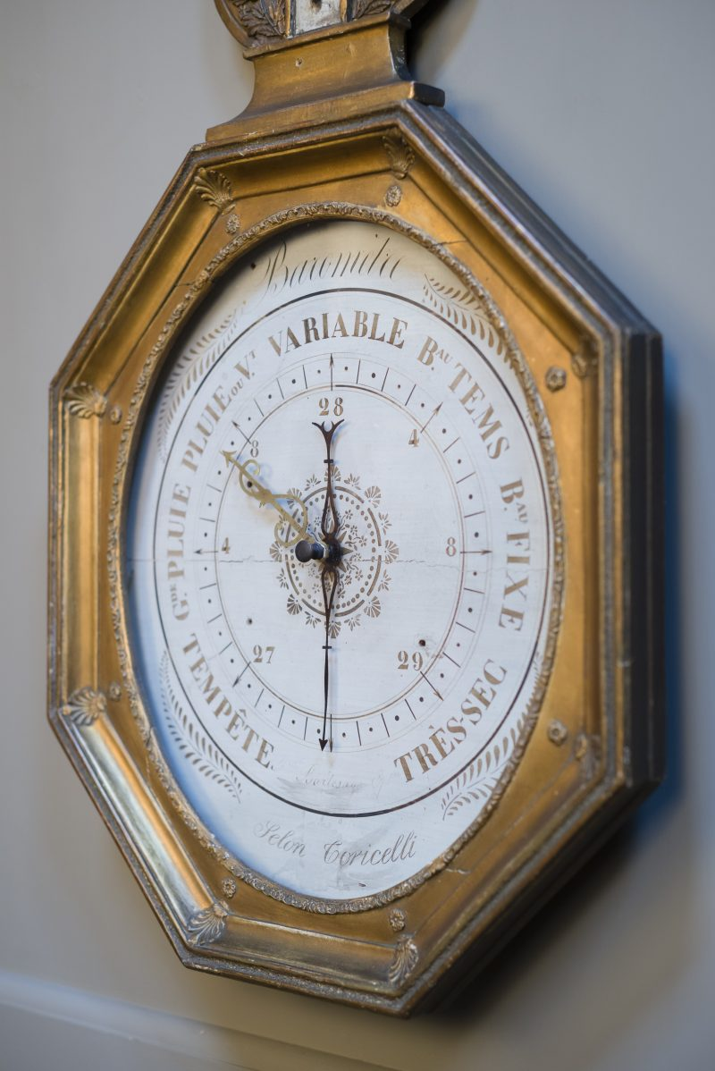 French gilt wood barometer C1850