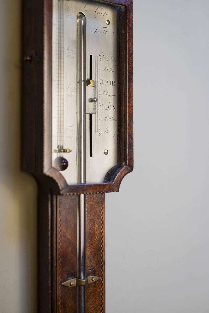 John Corti Fecit Antique Stick Barometer C1795