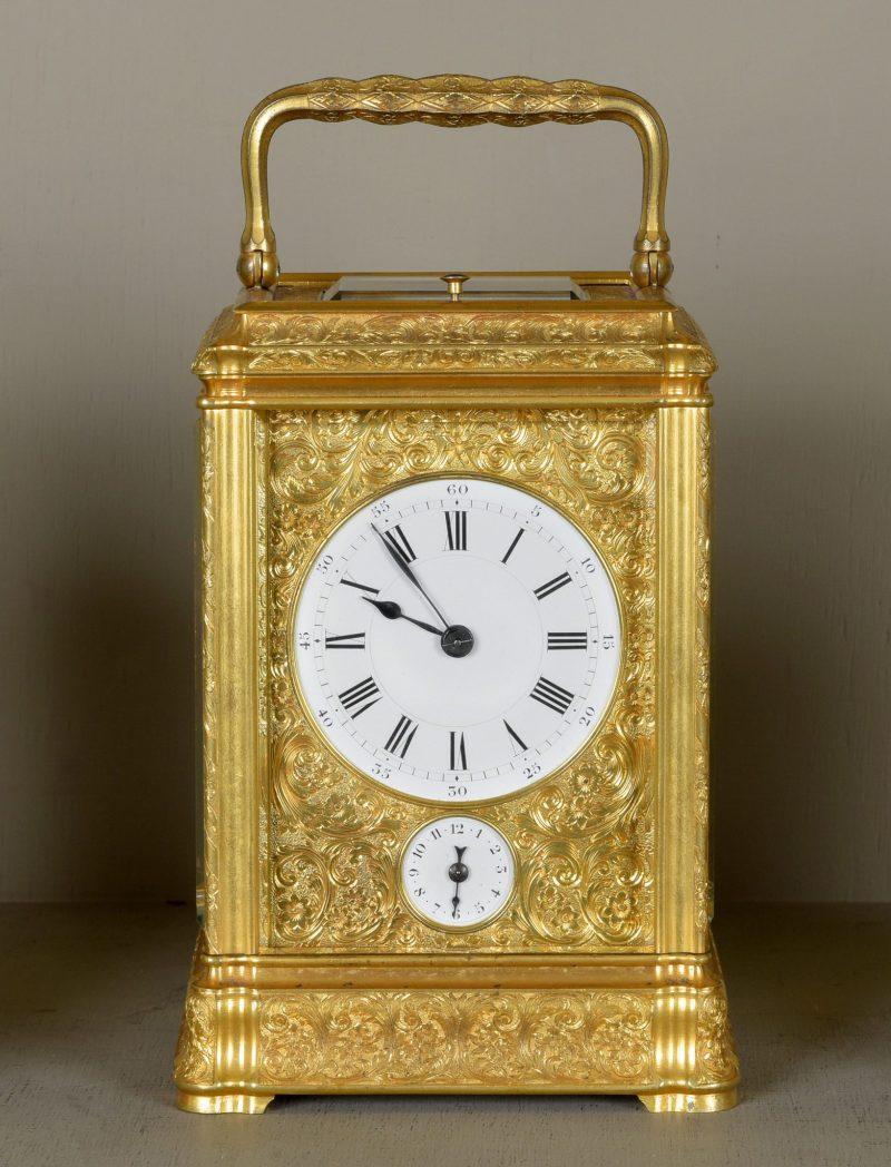 Paul Garnier ,Paris. Engraved Repeating Carriage clock .