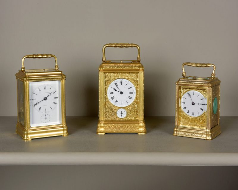 Three good quality carriage clocks.