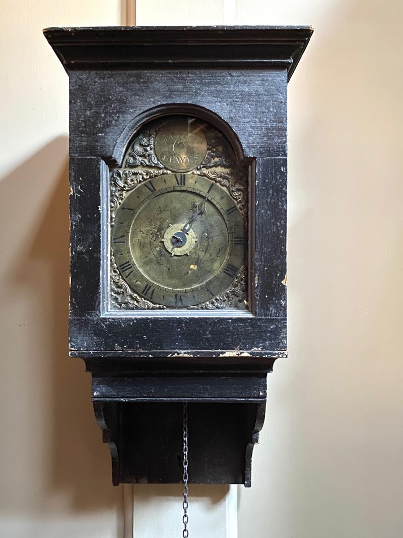Richard Comber of Lewes, Ca 1780 Hooded wall clock.