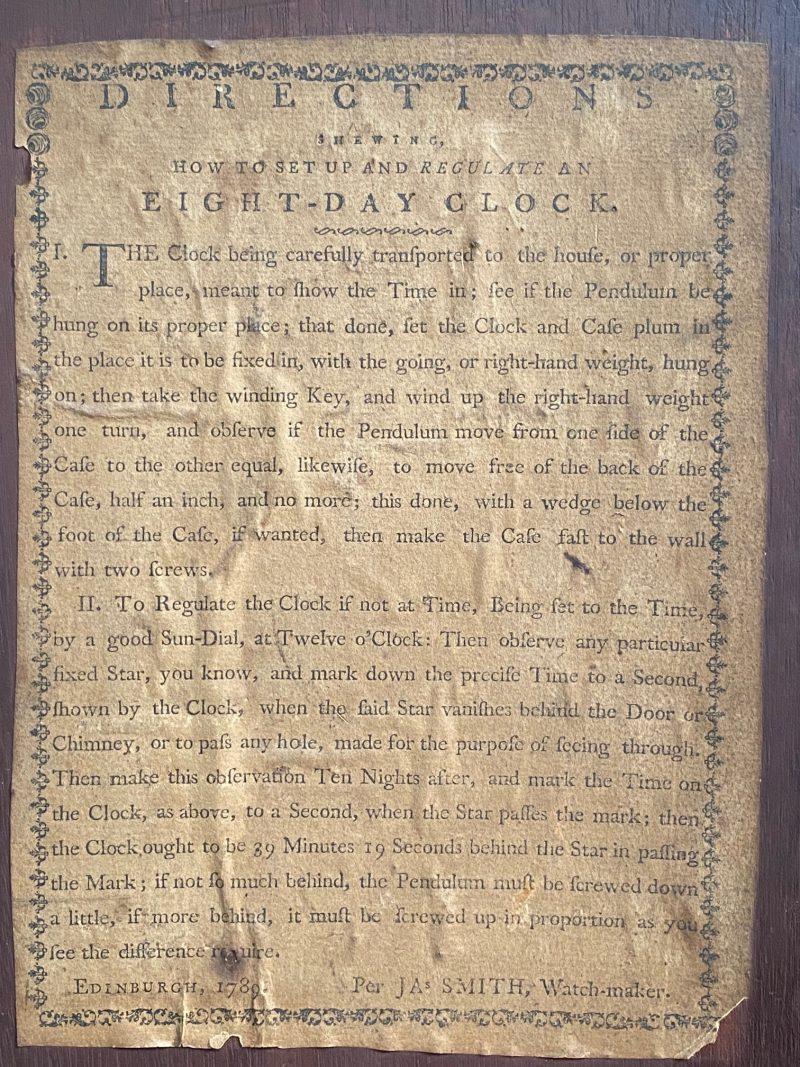James Smith of Edinburgh, 1789.