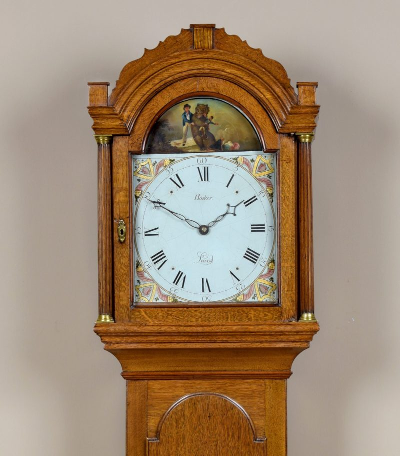 William Hooker Ca 1805.  Thirty  hour Longcase.