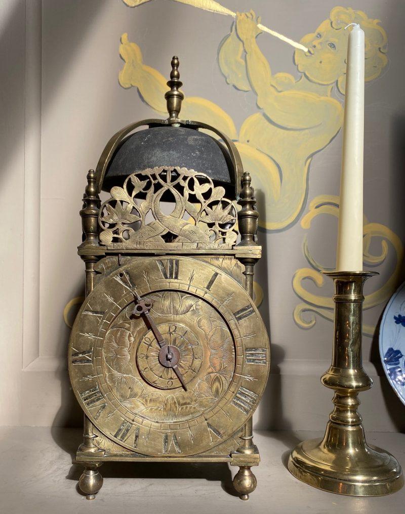 Lantern clock by Thomas Milles in Shoe Lane, Ca 1665.
