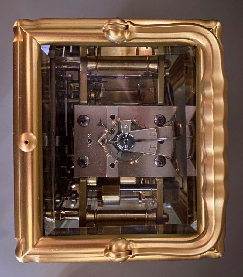 Petite Sonnerie Carriage clock Escapement.
